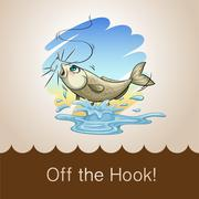 Old saying off the hook - stock illustration