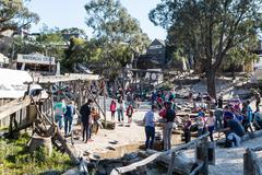 Sovereign Hill Gold Panning - stock photo