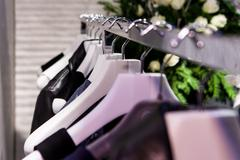 Clothes On a Rack - stock photo