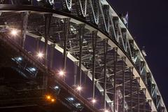 Sydney Harbour Bridge Closeup Stock Photos