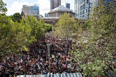 March in March Political Protest Melbourne - stock photo