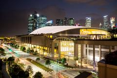 Marina Bay Sands Expo Convention Centre - stock photo