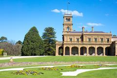 Werribee Mansion Gardens - stock photo
