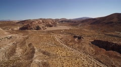 Red Rock Canyon Desert Aerial 4K Stock Footage