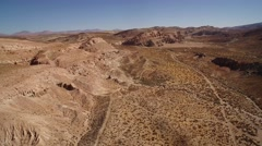 Red Rock Canyon Desert Aerial Stock Footage