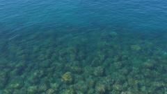 Mediterranean sea and rocks. Amalfi Coast, Italy. - stock footage