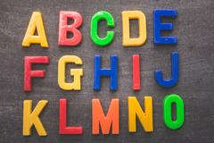 Colorful alphabetical stuff - stock photo