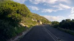Scenic car journey along Cape Peninsula road POV Stock Footage