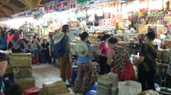 Ben Thanh market in HCMC Stock Footage