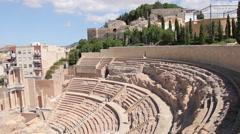 Amphitheater Romano in Cartagena, Spain - stock footage