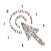 Stock Illustration of people  shape  cursor  vector