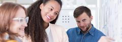 Stock Photo of Positive relationship at work