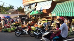 Evening marketplace in south Vungtau Stock Footage