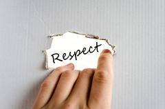Respect text concept - stock photo
