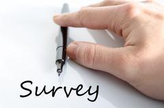 Survey text concept Stock Photos