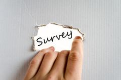 Survey text concept Stock Photos