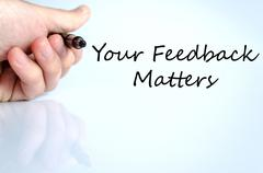Your feedback matters text concept - stock photo