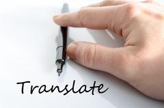 Translate text concept - stock photo