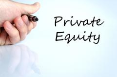 Stock Photo of Private equity text concept