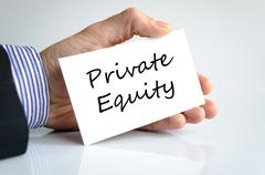 Private equity text concept Stock Photos