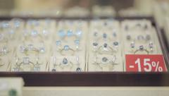 Discounts in the jewelry store - stock footage