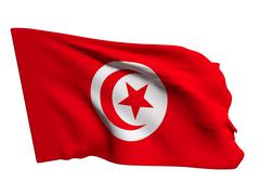 Tunisia flag - stock illustration
