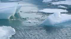 Time lapse of ice blocks melting Stock Footage