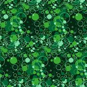Bright seamless pattern of chaotic circles and rings Stock Illustration
