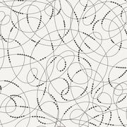 Seamless pattern of contrasting swirling lines Stock Illustration