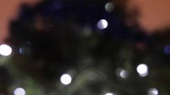 Unfocused Shot Of A Christmas Tree, Tilt, Holyday, Winter, Christmas Stock Footage