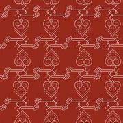 Seamless pattern of elegant flourishes Stock Illustration