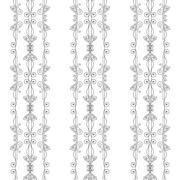Seamless pattern of elegant flourishes - stock illustration