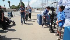 DARPA Robotics Challenge Team SNU Posing with People Stock Footage