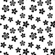 Black and white vector intricate pattern of flowers Stock Illustration