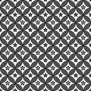 Black and white vector intricate pattern of flowers - stock illustration