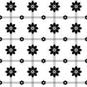 Black and white intricate pattern of flowers Stock Illustration