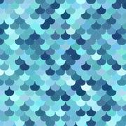 Stock Illustration of Marine scaly texture in different shades of blue