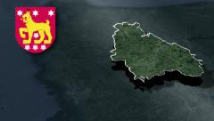 Tavastia Proper with Coat of arms animation map Stock Footage