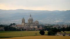 Basilica di Santa Maria degli Angeli, Umbria, Italy, Europe. Stock Footage