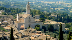 Basilica of St.Francis in Assisi, Umbria, Italy Stock Footage