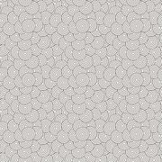 Seamless pattern of concentric circles superimposed randomly Stock Illustration