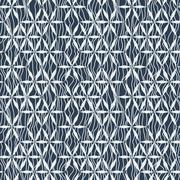 Seamless pattern geometric flowers under the curved lines Stock Illustration