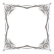 Elegant frame in art nouveau - stock illustration