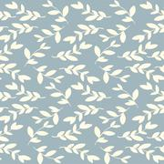 Vector seamless floral vintage pattern with leaves and branches - stock illustration