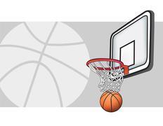Basketball illustration - stock illustration