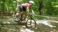 Stock Video Footage of ski jump on a bike
