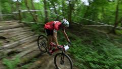 ski jump on a bike - stock footage