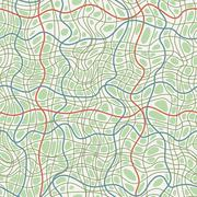 Seamless pattern of hand-drawn lines similar to crack - stock illustration