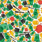 Collage from financial elements - stock illustration