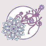 Flower Decoration Stock Illustration